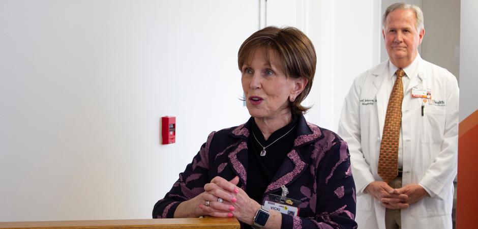 Vicki Briggs speaks at UT Health Tyler