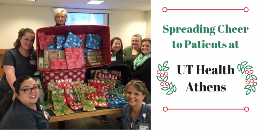 UT Health Athens gives Christmas gifts to patients