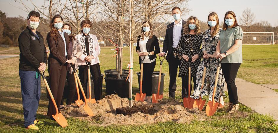 UT Health Tyler celebrates NICU construction by donating nine trees